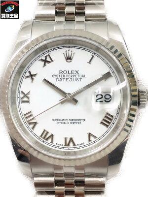 ROLEX デイトジャスト・ローマン・ホワイト 116234 ランダム番 仕上済【中古】