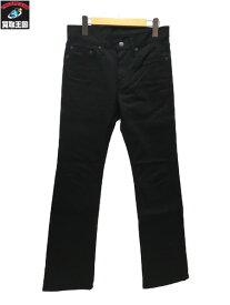 HYSTERIC GLAMOUR×野口強 Stie-lo刺繍ブーツカットスリムデニムパンツ W28【中古】