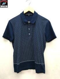GUCCI/グッチ/ドット柄プリントポロシャツ/polo shirt/ブルー/青/S【中古】[▼]