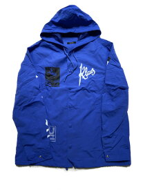 UNDERCOVER/NYLON HOODED COACH JACKET/3/ブルー【中古】