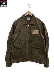 STANDARD CALIFORNIA ストライプワークジャケット (XL) ブラウン【中古】