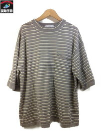 UNITED ARROWS UAST ニットビッグTシャツ (XL) ボーダー【中古】[▼]