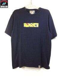 IOLANI (SIZE/M) USA製 Box Logo T-Shirts Navy【中古】[▼]