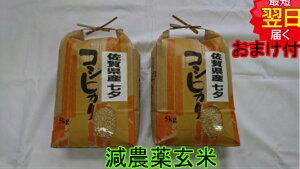 【令和元年産 】佐賀県産特別栽培米(減農薬5割減、化学肥料5割減)七夕コシヒカリ★玄米10kg送料無料※北海道、沖縄は発送見合わせております。