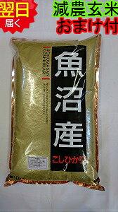 【令和元年産 新米】新潟県魚沼産コシヒカリ(特別栽培米、減農薬米)★玄米10kg送料無料※北海道は別途送料¥500沖縄一部離島は¥1500が掛かります。