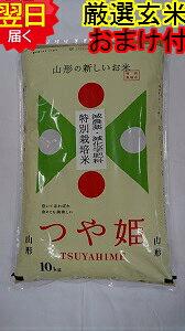 【令和元年産】山形県産 地域厳選 つや姫★玄米10kg特別栽培米、減農薬米送料無料※北海道、沖縄は発送見合わせております。