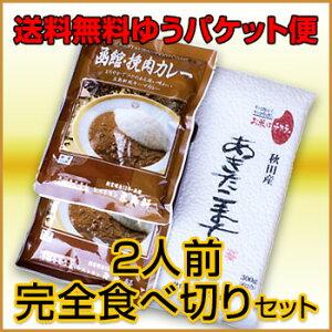 【送料無料】超お買い得 カレーセット(オコメール1P+挽肉カレー2P)【ゆうパケット便】