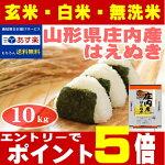 【お米】【10kg】【送料無料】山形県23年産はえぬき