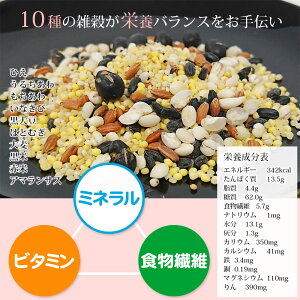 十穀米で栄養バランスアップ