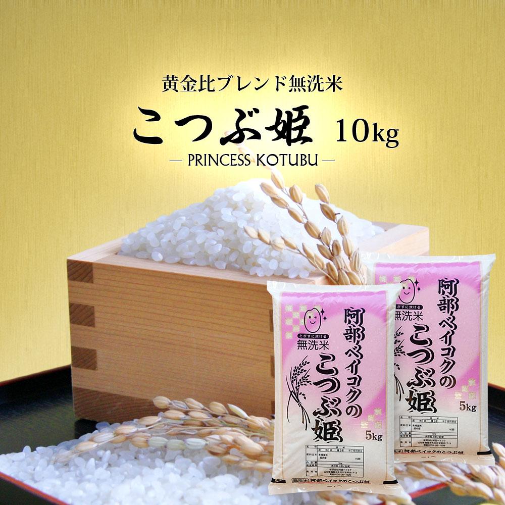 無洗米 10kg 送料無料 こつぶ姫 5kg袋×2ケ 【別途送料加算地域あり】