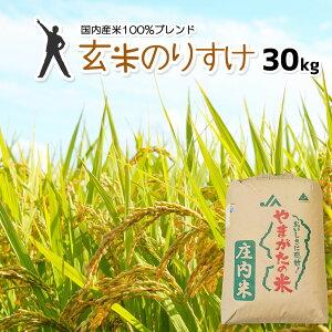 玄米 30kg 送料無料 玄米のりすけ 【別途送料加算地域あり】