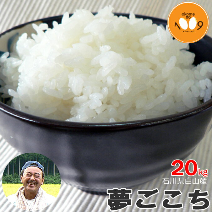 石川県白山産 夢ごこち 玄米 20kg 産地直送 吉左エ門 29年産 特別栽培米(減農薬) 【送料無料】