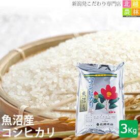 新米 魚沼産コシヒカリ3kg(3kg×1袋) 送料無料 令和2年産 こしひかり 新潟から産地直送