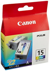 Canon 純正インクカートリッジ BCI-15 Color 3色カラー 2個パック BCI-15COLOR
