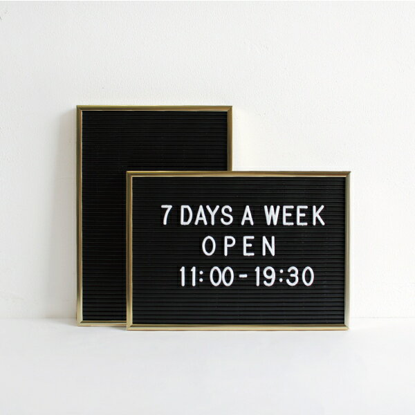 DETAIL[ディテール]Letter Board Gold(S)