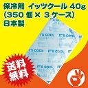 <送料無料!>激安!保冷剤 イッツクール40g日本製1050個(350個×3ケース)