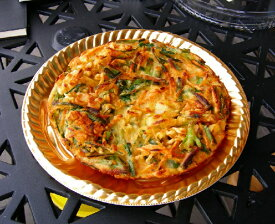 中はもちもち、外はパリパリ。韓国風お好み焼き。チヂミ 1枚
