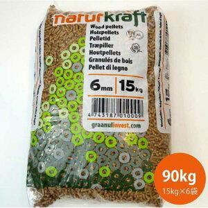 プレミアムペレット燃料90kg(15kg×6袋) ISO/EN+A1/DIN規格対応