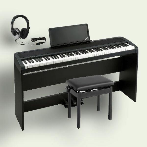 KORG B1SP BK コルグ 電子ピアノ ブラック 専用スタンド STB1 3本ペダル 高低椅子 ヘッドホン 専用カバー 付属