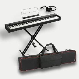 KORG D1 コルグ電子ピアノ X型スタンド(W支柱) 純正ソフトケース SC-D1 ヘッドホン付 スピーカーレス ライブセット