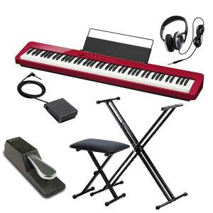 カシオ 電子ピアノ 88鍵盤 CASIO PX-S1000 RD Privia 椅子 X型スタンド(W支柱) ヘッドホン フットペダル セット