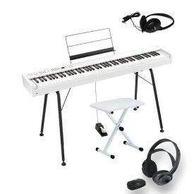 KORG D1 WH 専用スタンド ST-SV1 椅子 ヘッドホン セット コルグ電子ピアノ スピーカーレス ワイヤレスヘッドホン サービス!