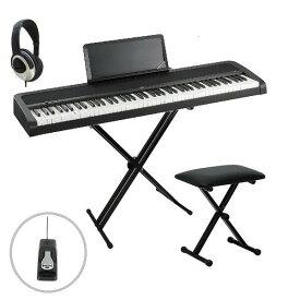 KORG B1 BK コルグ 電子ピアノ X型スタンド W支柱 フットペダル 椅子 ヘッドホン付