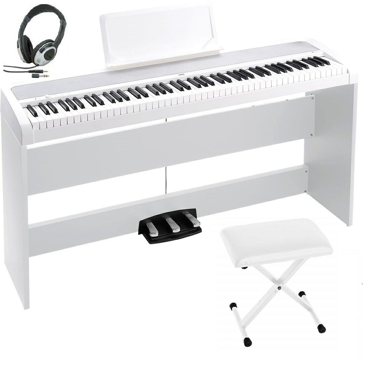 KORG B1SP WH コルグ 電子ピアノ ホワイト 専用スタンド STB1 3本ペダル 椅子(純正) ヘッドホン(密閉型) オプション 専用カバー