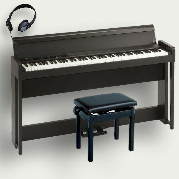 KORG 電子ピアノ C1 Air BR コルグ 高低椅子 ヘッドホン付