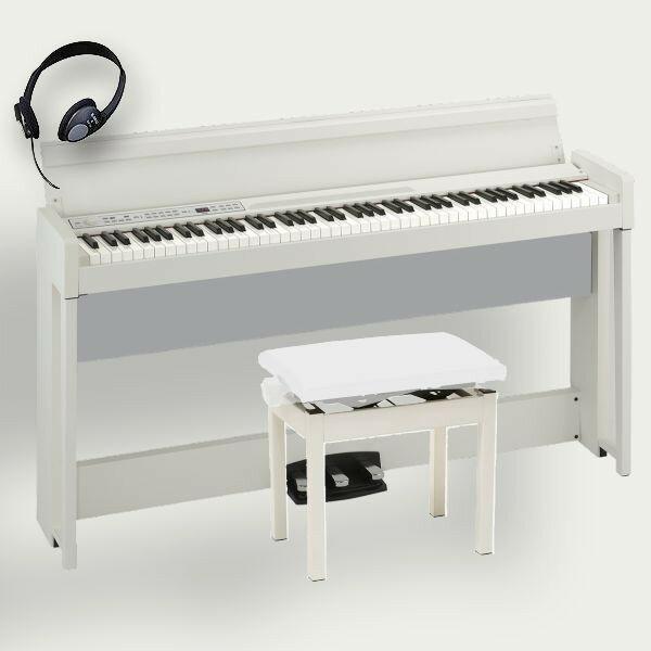 KORG 電子ピアノ C1 Air WH コルグ 高低椅子 ヘッドホン付