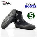 ウェットスーツ 男女兼用 ダイビング ブーツ 5mm ハイカット ジッパー ブーツ マリンシューズ Diving Wetsuits