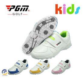 ゴルフ ゴルフシューズ マジックテープ式 ソフトスパイク キッズ スパイクシューズ 防水 人工皮革