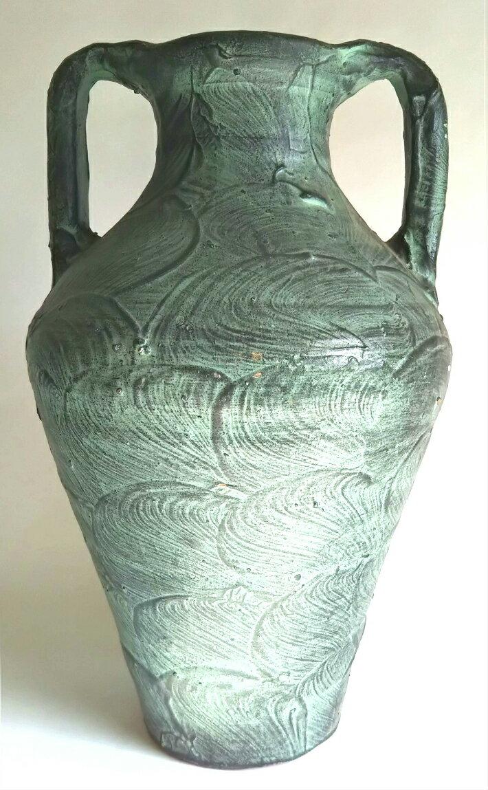 【中古】両手付き花瓶 スペイン製