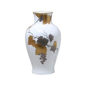 大倉陶園 金蝕ぶどう 28cm花瓶