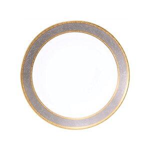 大倉陶園 金白金蝕ぶどう唐草 デザート皿 約20cm
