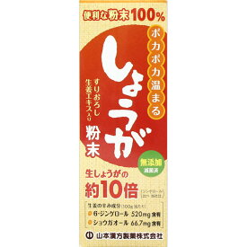 しょうが粉末100% すりおろし生姜エキス入り(25g)【山本漢方】 680 【あす楽対応】