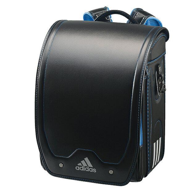アディダスキューブ型ブラック×ブルー35619-12(男の子向けランドセル)【2020年最新ランドセル】