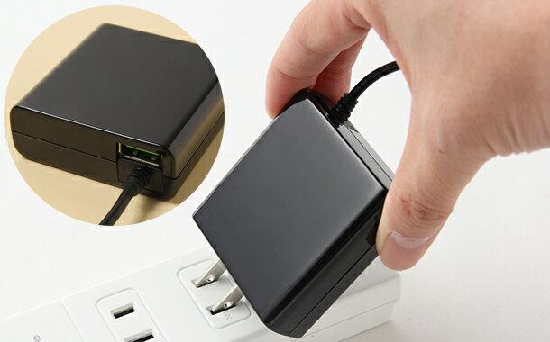 送料無料【月間優良ショップ】Type-C AC充電器3.4A 急速充電 ケーブル長 1.5m USB1ポート付 スマホ 【ブラック ホワイト】01U3400TC ゆうパケット