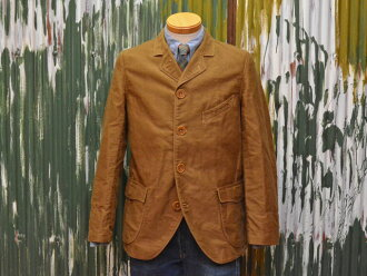"Freewheelers a sack coat ""Morgan"" heavy moleskin yarn dyed bronze"