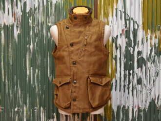"Freewheelers over best ""WINTER AVIATOR's VEST"" paraffin coated jungle cross-sepia-Brown"