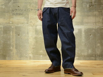 "Freewheelers trousers ""MOUNTAIN TROUSERS"" 10 oz Indigo army denim"