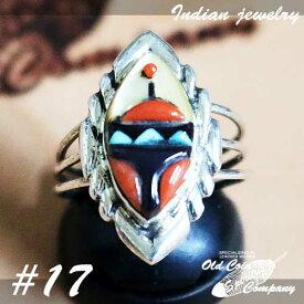 インディアンジュエリー リング #17 シルバー ターコイズ コーラル ジェット Indian jewelry - Ring メンズ レディース ギフト プレゼント おすすめ