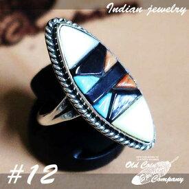 インディアンジュエリー リング #12 シルバー ターコイズ コーラル ジェット Indian jewelry - Ring - Zuni メンズ レディース ギフト プレゼント おすすめ