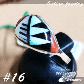インディアンジュエリー リング #16 シルバー ターコイズ Indian jewelry - Ring メンズ レディース ギフト プレゼント おすすめ