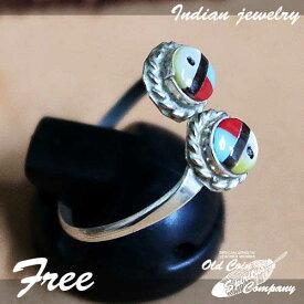 インディアンジュエリー リング フリーサイズ シルバー ターコイズ サイズ フリー Free Indian jewelry - Ring - Zuni メンズ レディース ギフト プレゼント おすすめ