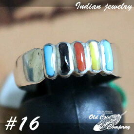 インディアンジュエリー リング #16 シルバー ターコイズ ジェット コーラル Indian jewelry - Ring メンズ レディース ギフト プレゼント おすすめ