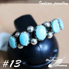 インディアンジュエリー リング #13 シルバー ターコイズ Indian jewelry - Ring - Sleeping Beauty スリーピングビューティー 鉱山 メンズ レディース ギフト プレゼント おすすめ