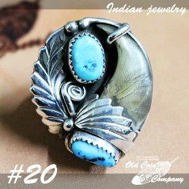 インディアンジュエリー リング #20 シルバー ターコイズ Indian jewelry - Ring - Kingman Mt and Bear Crow メンズ レディース ギフト プレゼント おすすめ