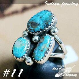 インディアンジュエリー リング #11 シルバー ターコイズ Indian jewelry - Ring - Pilot Mt メンズ レディース ギフト プレゼント おすすめ