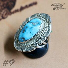 インディアンジュエリー リング #9 シルバー ターコイズ Indian jewelry - Ring - メンズ レディース ギフト プレゼント おすすめ